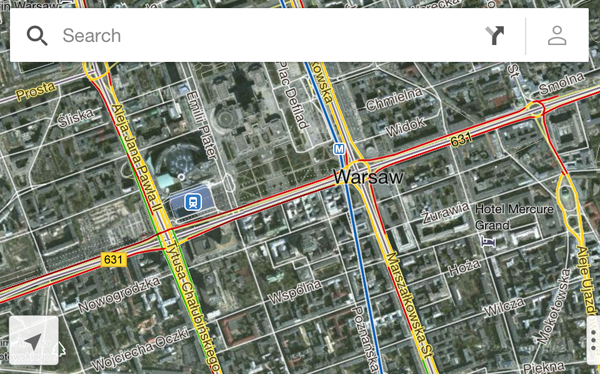 Google Maps na iOS
