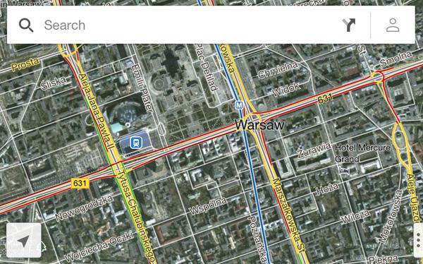 Google Maps na iOS