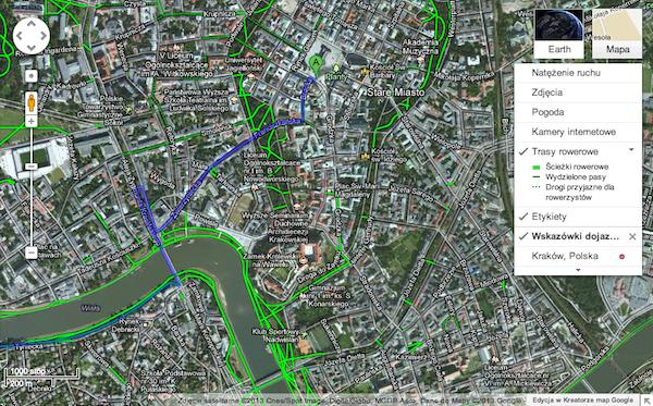 mapy-google-trasy-rowerowe