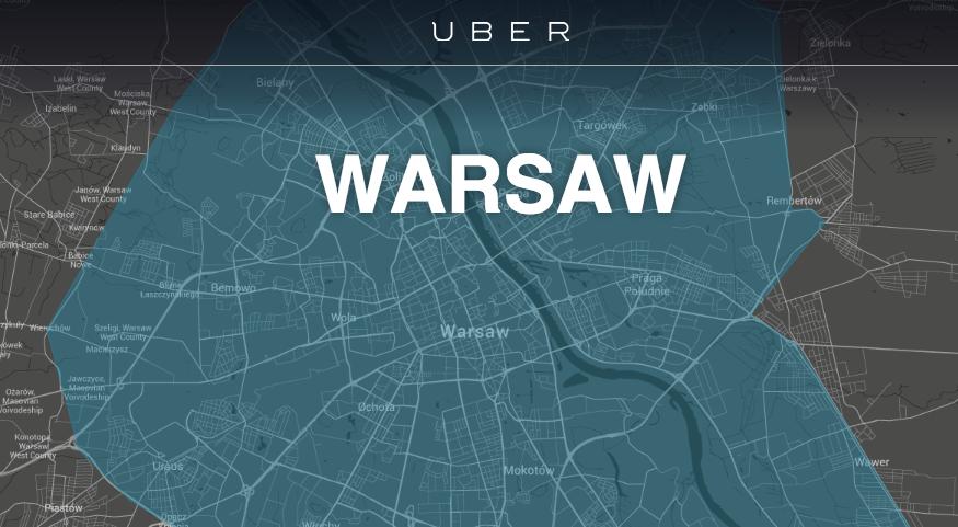 Uber już działa w Warszawie