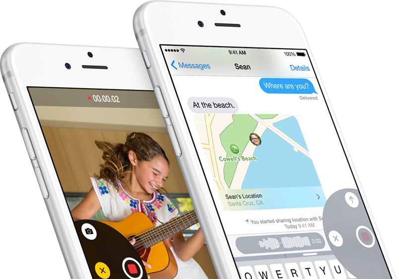 iOS 8 - nowe funkcje w aplikacji Wiadomości