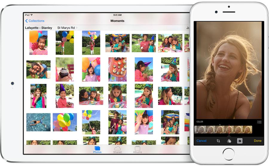 iOS 8 - Zdjęcia i Aparat