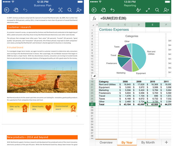 word-excel-office-iphone