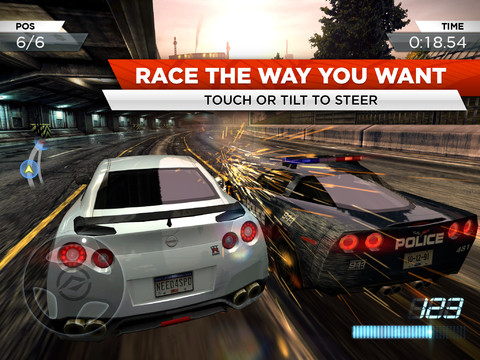 Need for Speed Most Wanted iPad