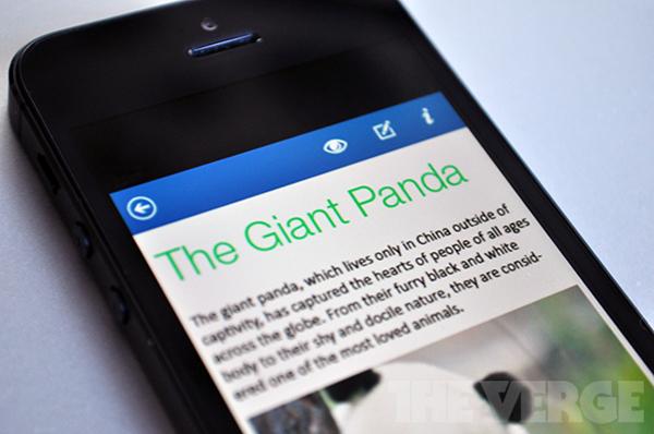 MS Office iOS App na iPhone iPad