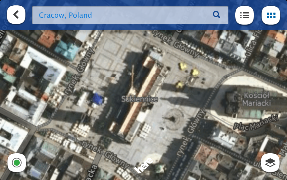 Nokia Here Maps na iPhone iPad