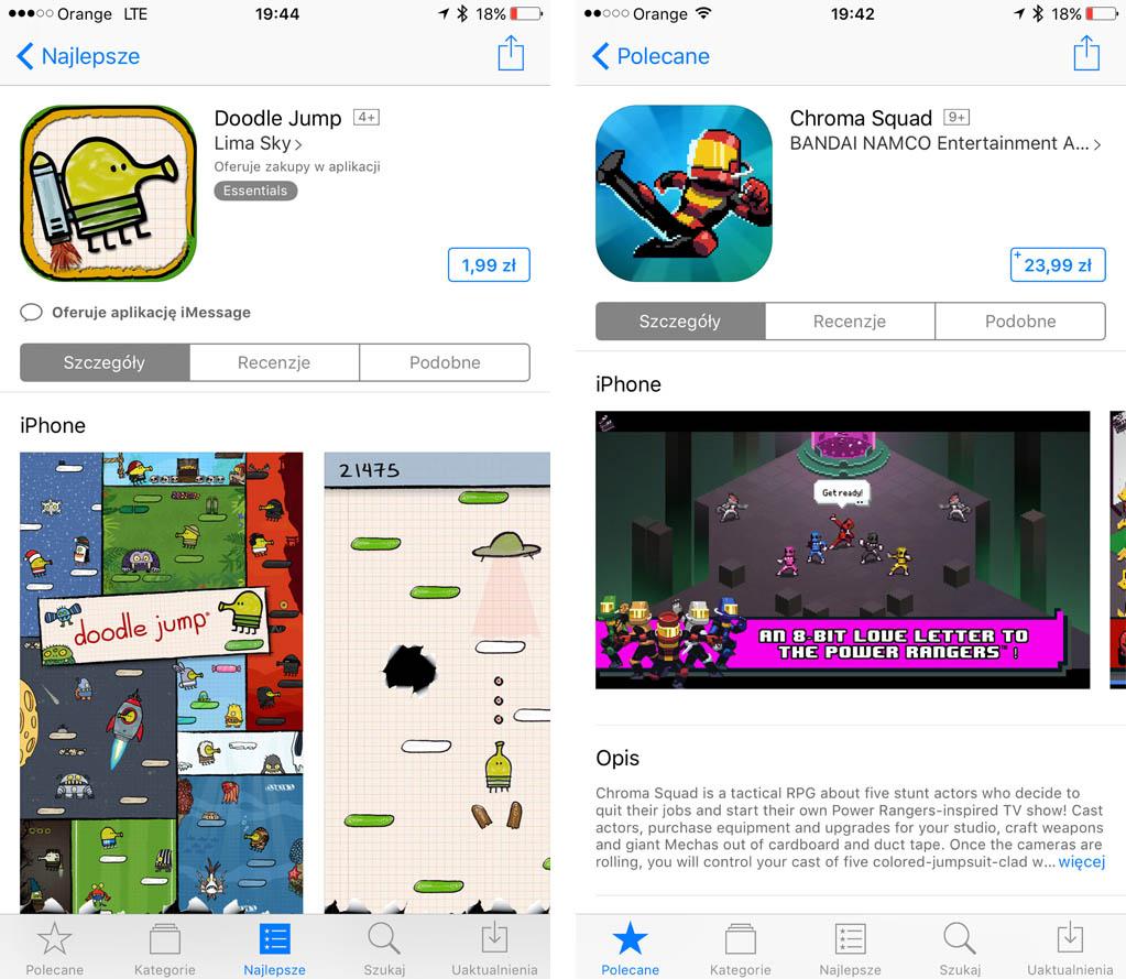 Za zakupy w App Store, pakiety iCloud i Apple Music od