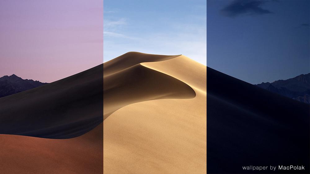 Tapeta macOS Mojave podzielona